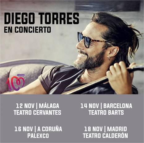 Diego Torres actuará en España en noviembre