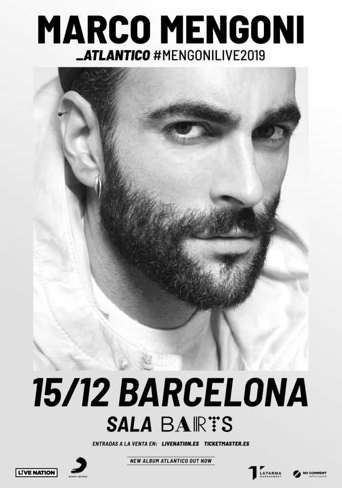 Marco Mengoni agota entradas para su concierto el 15 de noviembre en Barcelona