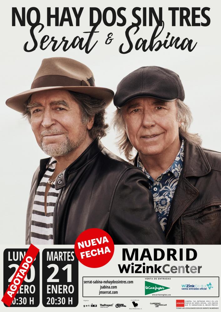 Serrat y Sabina agotan las entradas en horas y anuncian un segundo concierto en Madrid
