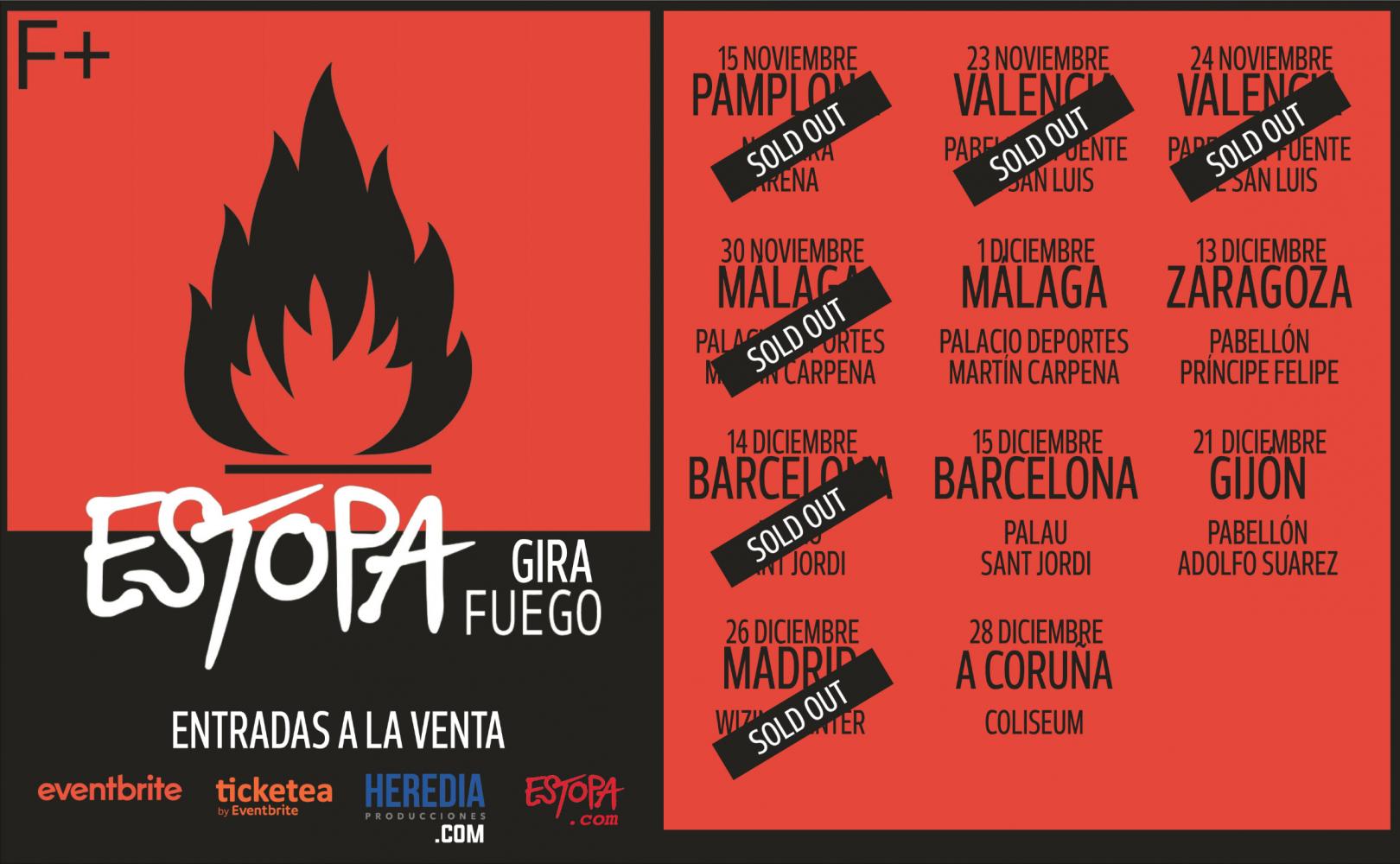 """Estopa comienza hoy su gira """"Fuego"""" con entradas agotadas en Pamplona"""