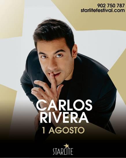 Carlos Rivera: artista confirmado en el Starlite Festival el 1 de agosto