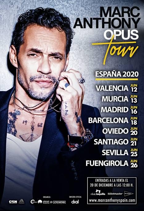 Marc Anthony llega a España con su Opus Tour