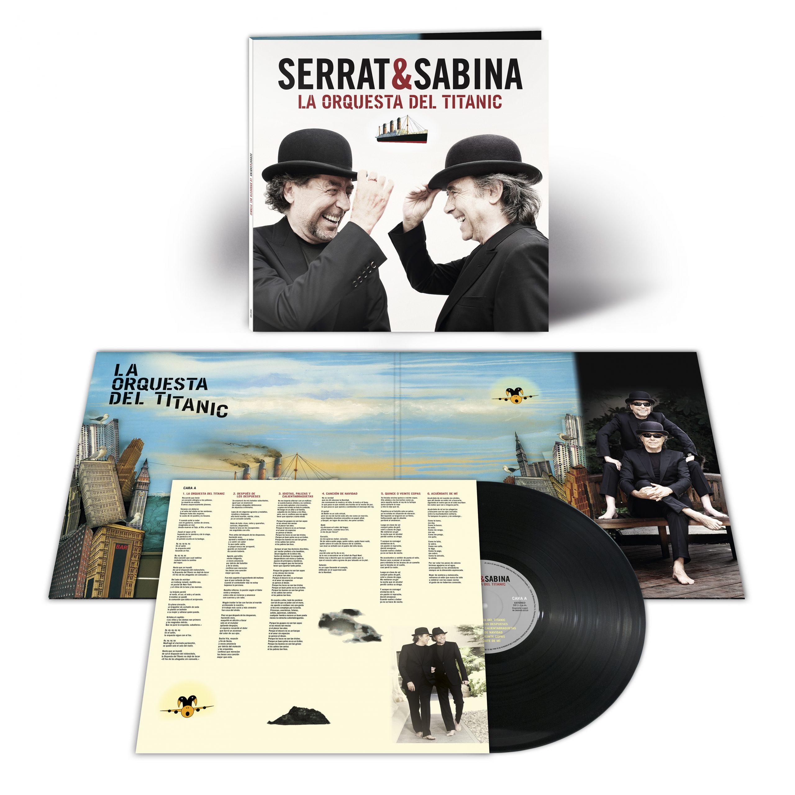"""Serrat y Sabina publican """"La orquesta del Titanic"""" en vinilo poco antes de sus conciertos en Barcelona y Madrid"""