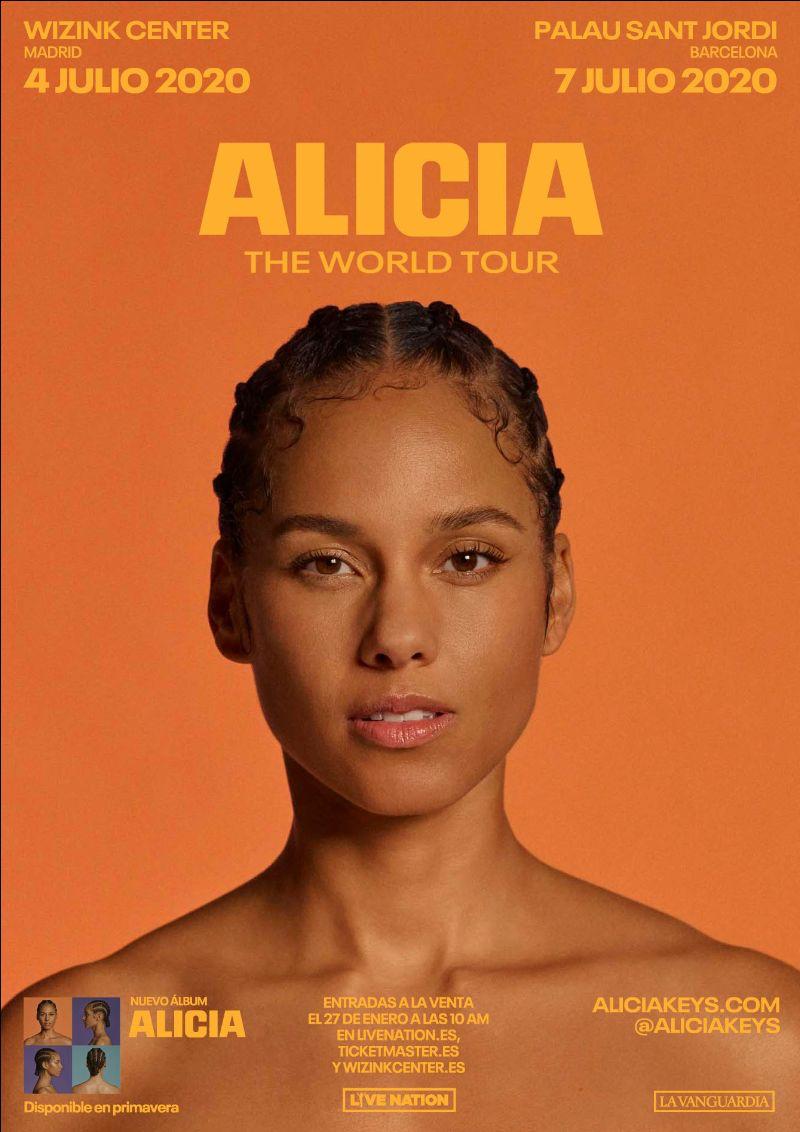 Alicia Keys anuncia nuevo álbum y su gira mundial, que pasará por España en julio