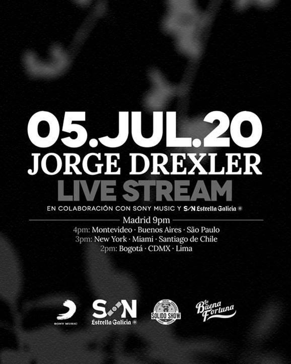 Jorge Drexler ofrece un concierto en streaming el próximo domingo 5 de julio