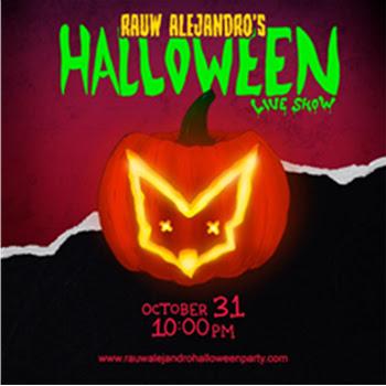 Cartel del concierto de Halloween en directo del cantante de raeggeton RAUW Alejandro (31 octubre 2020)