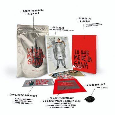 Imagen de la edición CD con bolsa sorpresa del álbum Lo que me dé la gana de Dani Martín