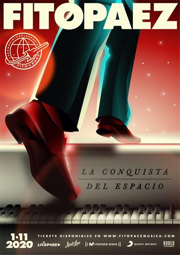 """FITO PAEZ presenta """"La Conquista del Espacio"""" Un concierto desde Movistar Arena (Buenos Aires) ¡Para todo el mundo!"""
