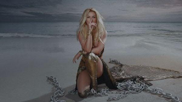 """La artista pop estadounidense Britney Spears en una imagen de su nuevo lanzamiento """"Matches"""" feat. Back Street Boys, incluido en su próxima reedición del álbum Glory"""