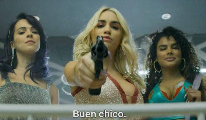 Imagen de la artista Lali, Verónica Sánchez y Yany Prado en la próxima serie de Netflix Sky Rojo