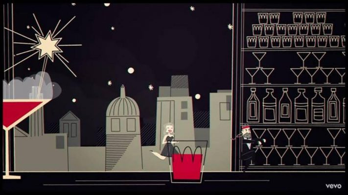 "Imagen del vídeo animado de ""I Won't Dance"" de Willie Nelson con Diana Krall"