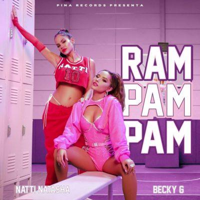 Portada de Ram Pam Pam de Natti Natasha y Becky G