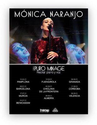 Imagen del cartel de la gira 2021 de Mónica Naranjo