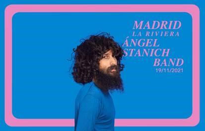 Cartel de gira de Angel Stanich noviembre 21
