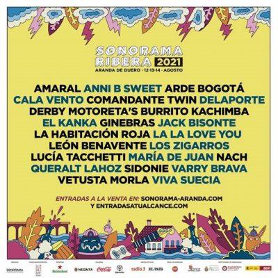 Cartel del festival Sonorama Ribera 2021