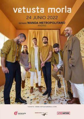 Cartel concierto 24 junio 2022 de Vetusta Morla en Madrid