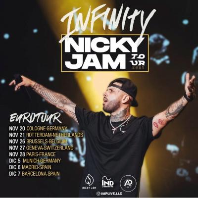 Cartel de gira de Nicky Jam en España