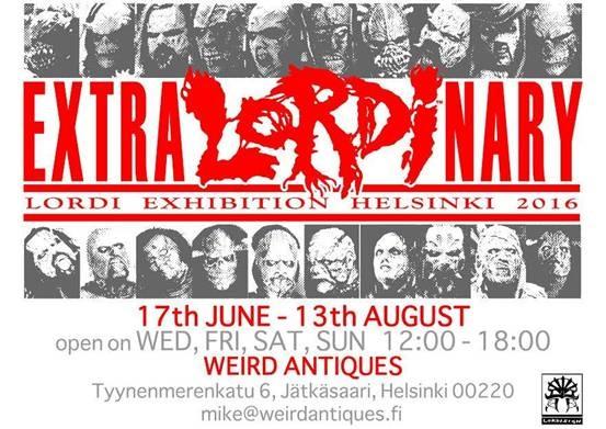 Lordi-näyttely ExtraLordinary Helsingissä kesän ajan