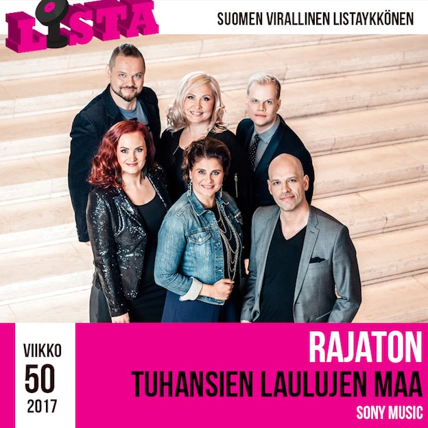 """Rajaton-yhtye teki historiaa – """"Tuhansien laulujen maa"""" on Suomen ensimmäinen listaykköseksi noussut a cappella -albumi"""