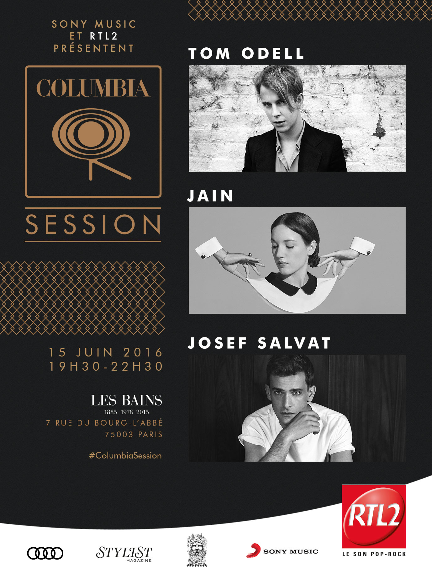 columbia session affiche