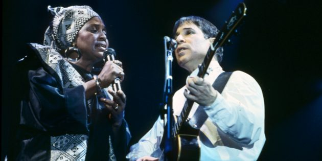 Archival_MiriamMakeba_PaulSimon_credit PeterHense_PS PRIVATE COLLECTION