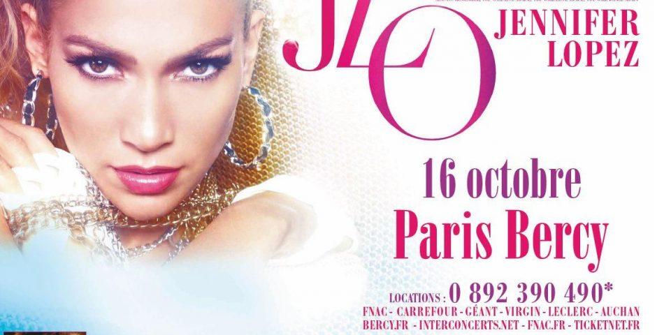 Jennifer Lopez affiche Bercy