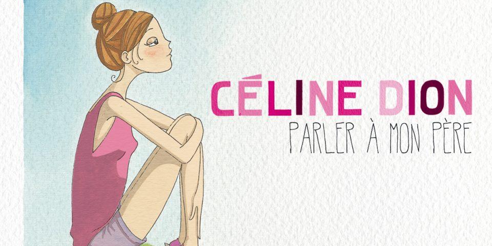 Celine Dion visuel single Parler a mon pere