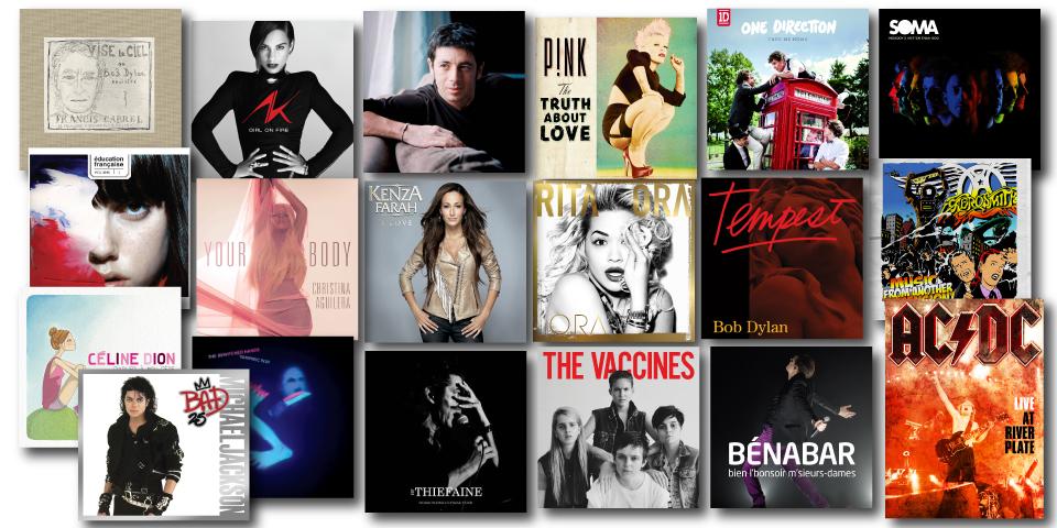 Nouveautés Sony Music septembre décembre 2012