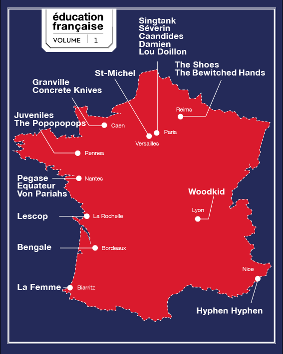 Education Française carte de France