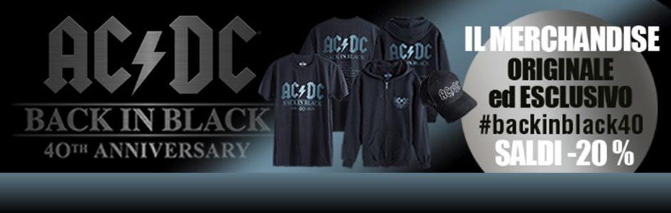 """Il merchandising esclusivo per l'anniversario di """"Back in Black"""" degli AC/DC – SALDI20%"""