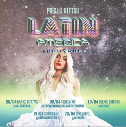 """PABLLO VITTAR anuncia su primera gira de conciertos en Estados Unidos """"NPN PRIDE TOUR"""""""