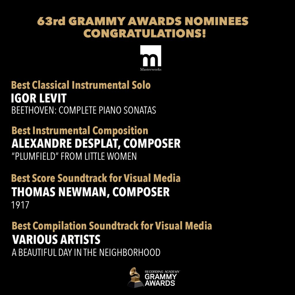 Congratulations To Our 2021 Grammy Nominees!