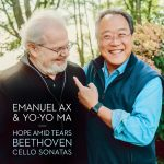 YO-YO MA AND EMANUEL AX TO RELEASE NEW RECORDING OF BEETHOVEN'S COMPLETE WORKS FOR PIANO AND CELLO HOPE AMID TEARS AVAILABLE JUNE 4, 2021– PREORDER NOW  Image