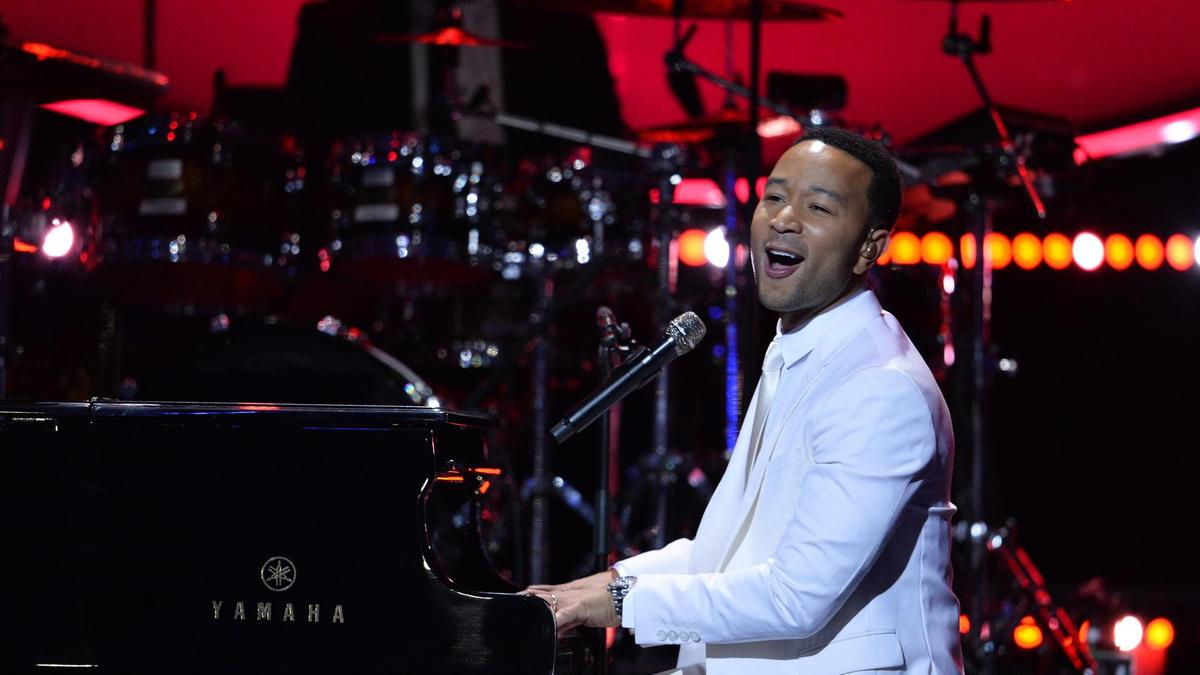 John Legend Closing the Dubai Shopping Festival with a performance at the Coca Cola Arena