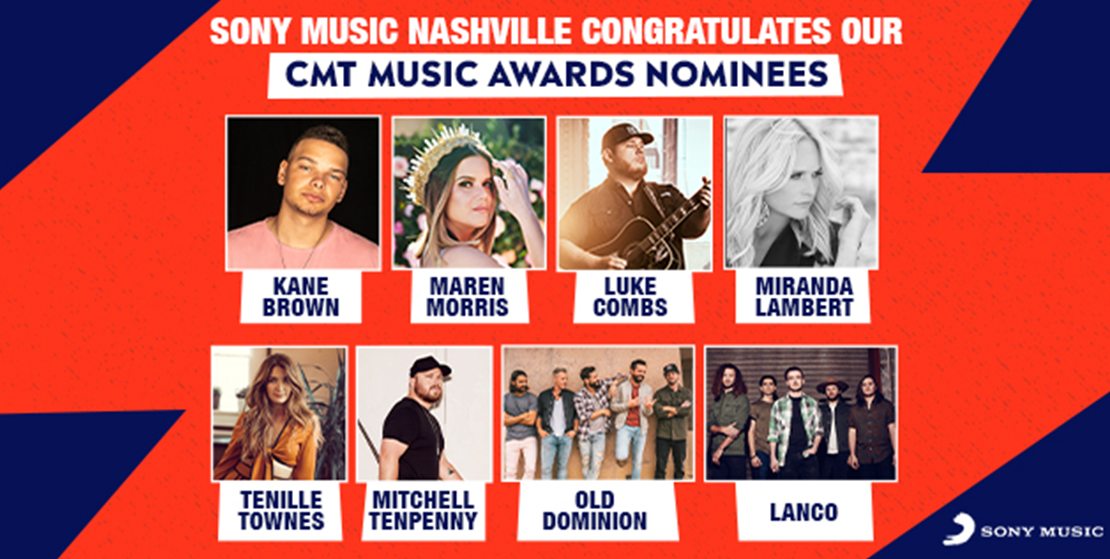 CONGRATS TO OUR 2019 CMT MUSIC AWARDS NOMINEES! - Sony Music