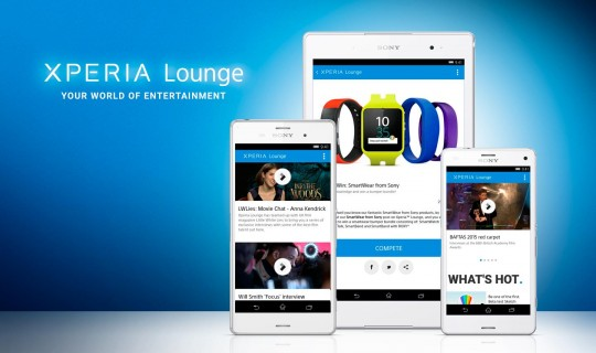 Le meilleur du contenu Sony Music pour alimenter Xperia Lounge à l'international