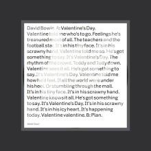 """David Bowie – """"Valentine's Day"""" (LP singiel)"""