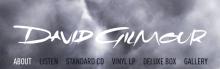 DAVID GILMOUR – nowe materiały audio-video już do obejrzenia  na stronie artysty !  (proszę o rozesłanie)