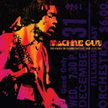 "Jimi Hendrix – ""Machine Gun Jimi Hendrix The Filmore East 12/31/1969 (FIRST SHOW)"" (LP)"