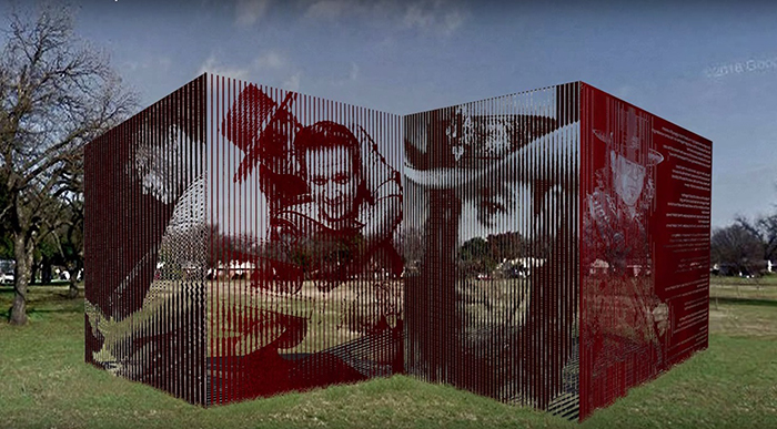 Proposed Jimmie and Stevie Ray Vaughan artwork in Kiest Park