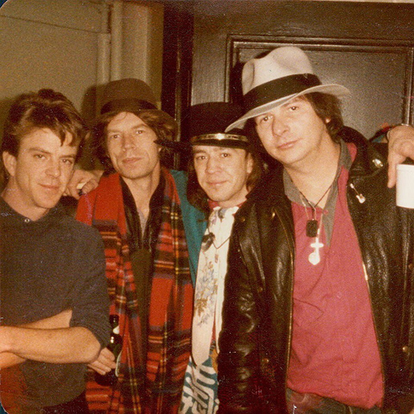 Chris Layton, Mick Jagger, Stevie Ray Vaughan, Tommy Shannon