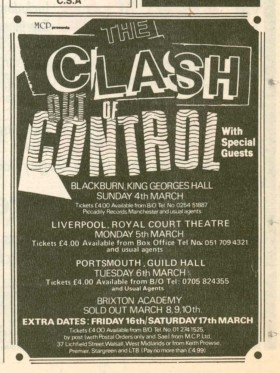 Out Of Control Tour Advert - 1984