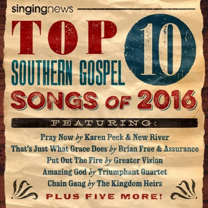 Singing News Top 10 Songs 2016 album cover
