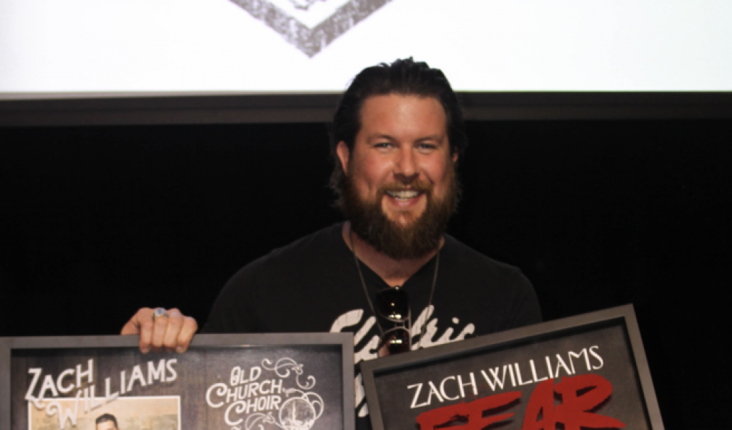 "ZACH WILLIAMS RECEIVES HIS THIRD GOLD CERTIFICATION; His 20-Week Chart-Topping ""Old Church Choir"" And Fan Favorite ""Fear Is A Liar"" Both Become RIAA Gold® Certified thumbnail"