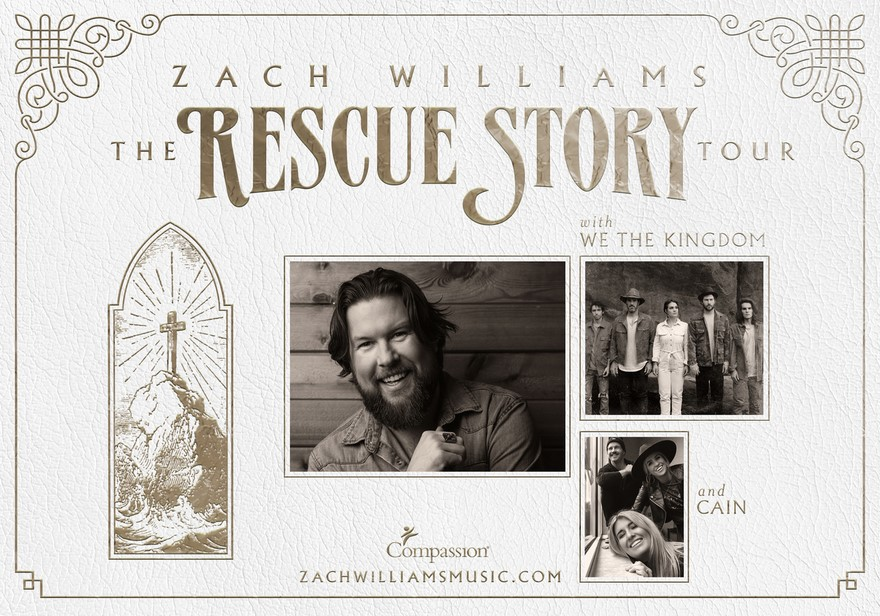 "GRAMMY®-AWARD WINNING ARTIST ZACH WILLIAMS READIES FOR NEXT RUN OF ""THE RESCUE STORY TOUR"" thumbnail"
