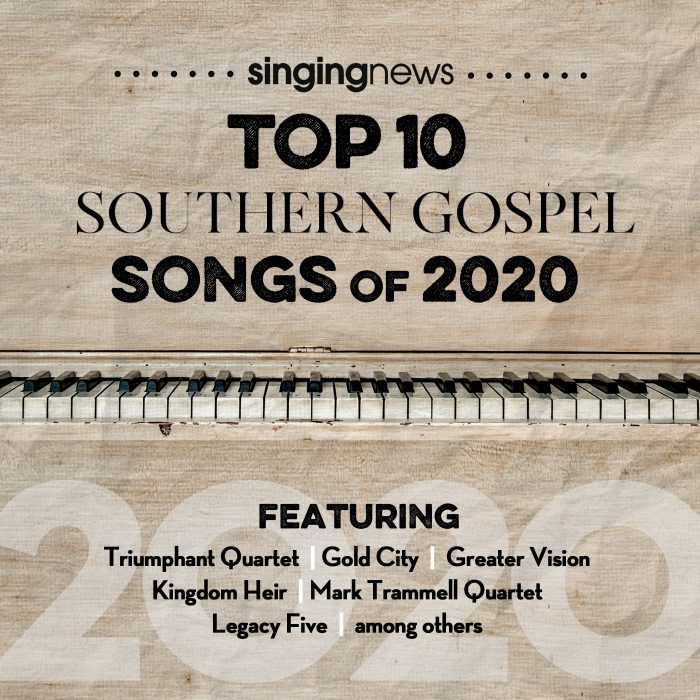 Singing News Top 10 Southern Gospel Songs of 2020 album cover