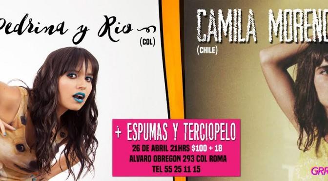 Camila Moreno se presentará hoy en El Imperial junto a Pedrina y Río