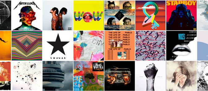 #StaffPick: 30 canciones favoritas del 2K16