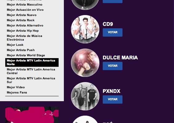 CD9  Nominados a  MTV EMA's