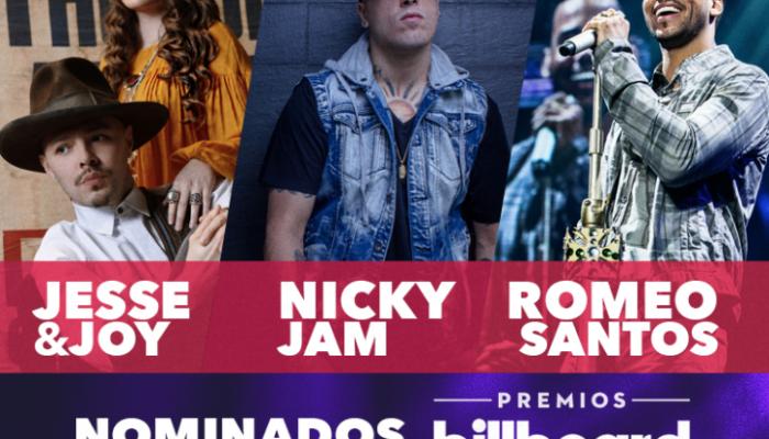 Jesse & Joy, Nicky Jam y Romeo Santos nominados en Premios Billboard 2016